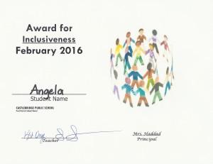 Inclusiveness 2016